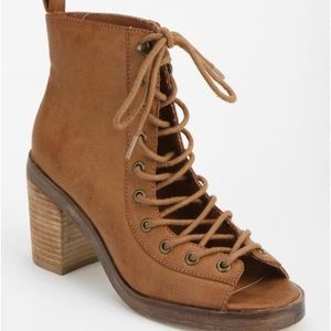 Urban Outfitters Peep-Toe-Lace-Up Boot